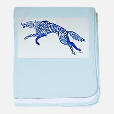 Blue Wolf baby blanket