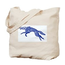 Blue Wolf Tote Bag