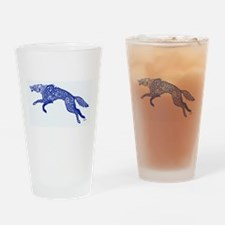Blue Wolf Drinking Glass