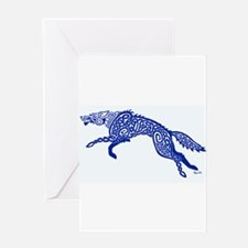 Blue Wolf Greeting Cards