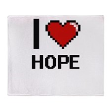 I love Hope Throw Blanket