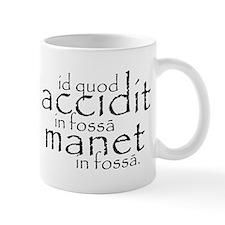in fossa (black) Mugs