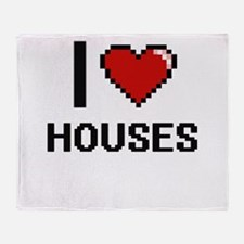 I love Houses Throw Blanket
