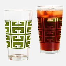 Avocado Green Spanish Tile Drinking Glass