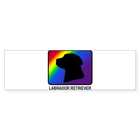 Labrador Retriever (rainbow) Bumper Sticker