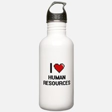 I love Human Resources Water Bottle