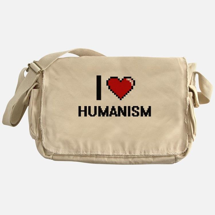I love Humanism Messenger Bag