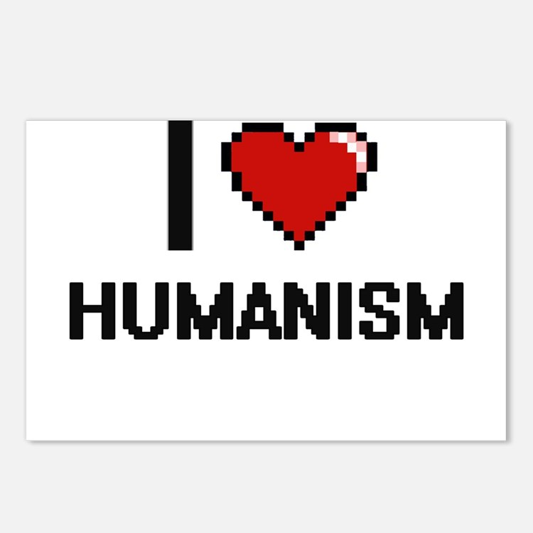 I love Humanism Postcards (Package of 8)