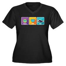 Peace, Love, Run Plus Size T-Shirt