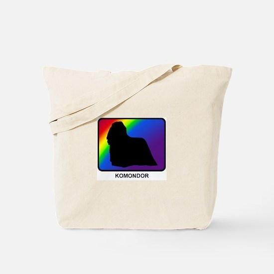 Komondor (rainbow) Tote Bag