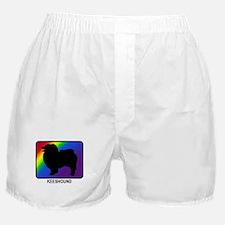 Keeshound (rainbow) Boxer Shorts