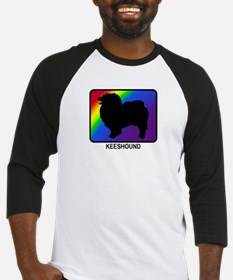 Keeshound (rainbow) Baseball Jersey