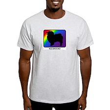 Keeshound (rainbow) T-Shirt