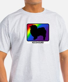 Keeshound (rainbow) T-Shirt