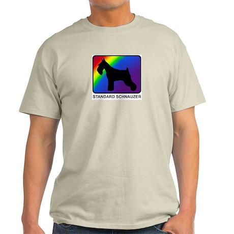 Standard Schnauzer (rainbow) Light T-Shirt