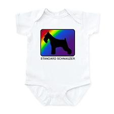 Standard Schnauzer (rainbow) Infant Bodysuit