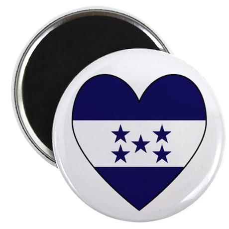 "Honduran Flag Heart 2.25"" Magnet (10 pack)"