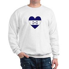Honduran Flag Heart Sweatshirt