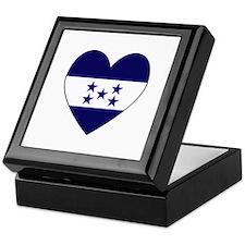 Honduran Flag Heart Keepsake Box
