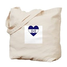 Honduran Flag Heart Tote Bag