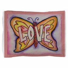 Butterfly Inspirational Word Love Art Pillow Sham