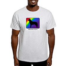 Siberian Husky (rainbow) T-Shirt