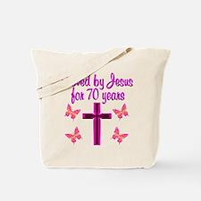 CHRISTIAN 70TH Tote Bag