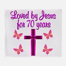 CHRISTIAN 70TH Throw Blanket