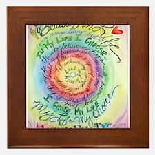Beauty in Life Cancer Support Poem Framed Tile