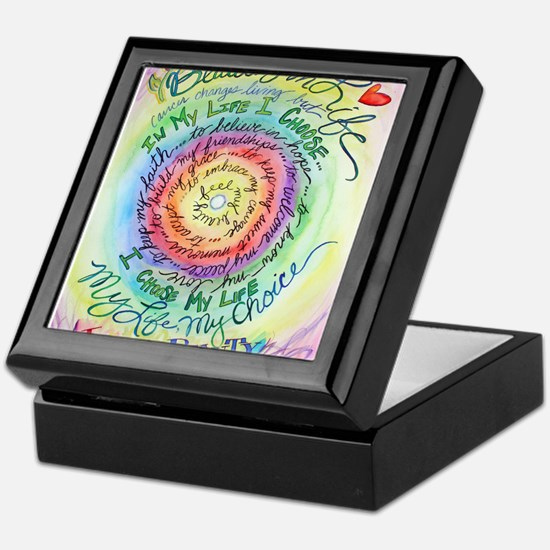 Beauty in Life Cancer Support Poem Keepsake Box
