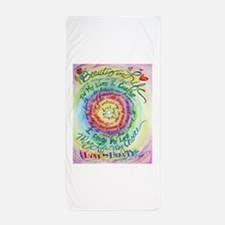 Beauty in Life Cancer Support Poem Beach Towel