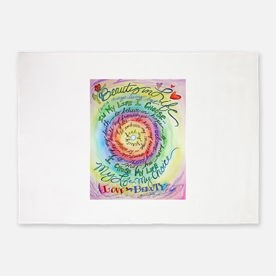 Beauty in Life Cancer Support Poem 5'x7'Area Rug
