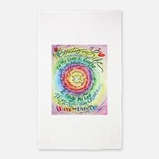Beauty in Life Cancer Support Poem Area Rug