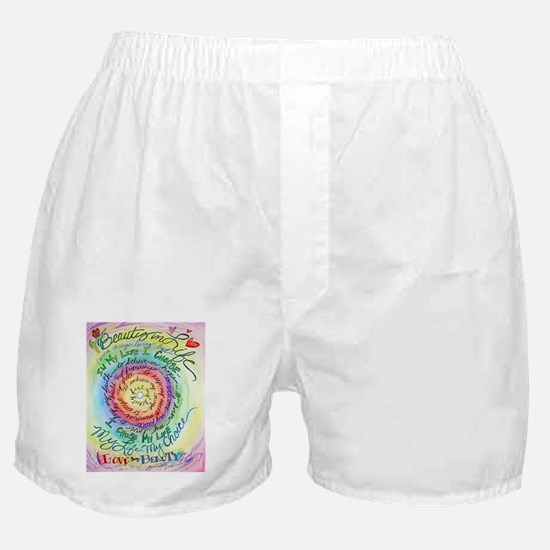 Beauty in Life Cancer Support Poem Boxer Shorts