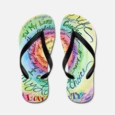 Beauty in Life Cancer Support Poem Flip Flops