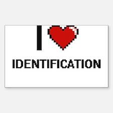 I love Identification Decal