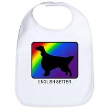 English Setter (rainbow) Bib