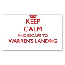 Keep calm and escape to Warren'S Landing M Decal
