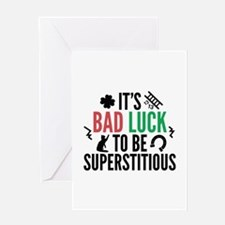 Superstitious Greeting Card