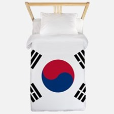 south korea flag Twin Duvet