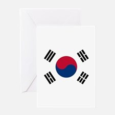south korea flag Greeting Cards