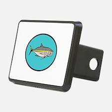 Yellowtail Kingfish Oval Cartoon Hitch Cover