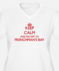 Keep calm and escape to Frenchma Plus Size T-Shirt