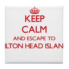 Keep calm and escape to Hilton Head I Tile Coaster