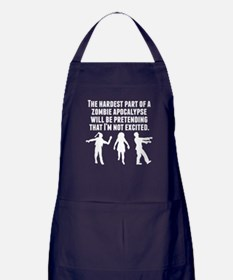 The Hardest Part Of A Zombie Apocalypse Apron (dar
