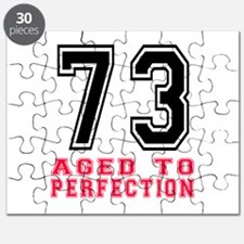 73 Aged To Perfection Birthday Designs Puzzle