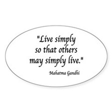 Cute Gandhi quotes Decal