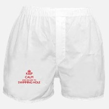 Keep calm and escape to Swimming Hole Boxer Shorts