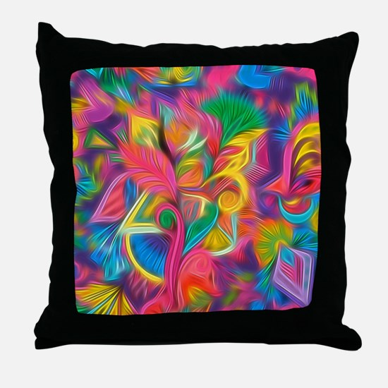 Funny Psychedelic Throw Pillow