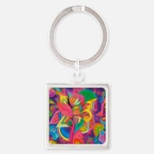 Funny Abstract Square Keychain